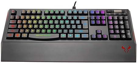 Aula RIOTORO Riotoro KR610 Ghotswriter clásico RGB Membrana Teclado para Juegos, Puertos 2 x USB, Resto Magnética