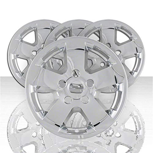 "Auto Reflections Set of 4 17"" 5 Spoke Wheel Skins for 2009-2012 Dodge Ram 1500/2500/3500 - Chrome"