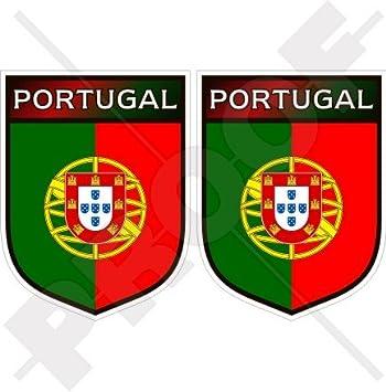 """PORTUGAL Portugués Escudo 75mm (3"""") Pegatinas de Vinilo Adhesivos, Stickers, Calcomanias"""