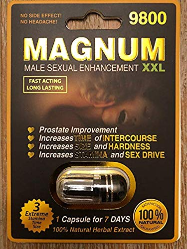 Amazon.com: Magnum 9800-20 Pills Male Enhancement Pill - Fast US Shipping: Health & Personal Care