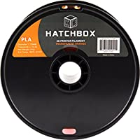 HATCHBOX 3D PLA-1KG1.75-TORN PLA 3D Printer Filament, Dimensional Accuracy +/- 0.05 mm, 1 kg Spool, 1.75 mm, Transparent Orange by HATCHBOX
