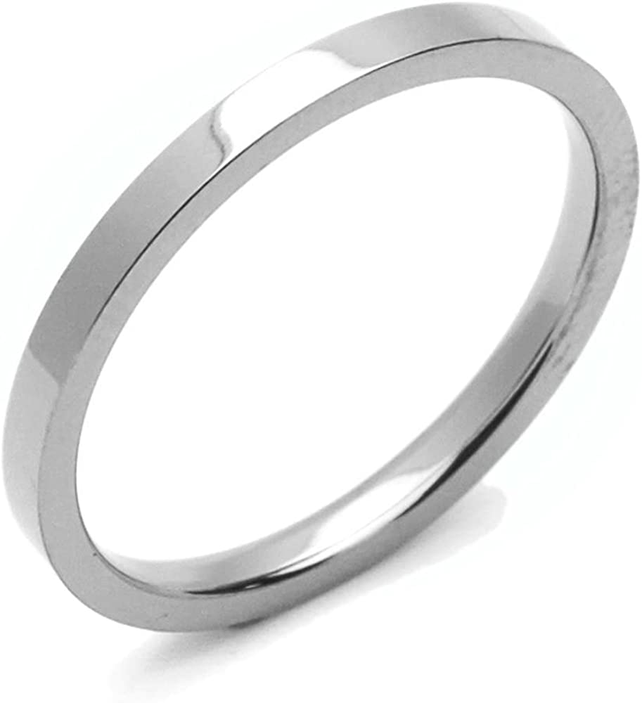 12 Karat Gold Filled 2mm Flat Hammered Wedding Band Ring