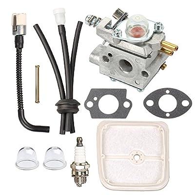 Panari Carburetor + Tune Up Kit Air Filter for ECHO SRM2400SB SRM-2400SB String Trimmer SHC2400 HCA2400 SHC-2400 HCA-2400 Hedge Clipper