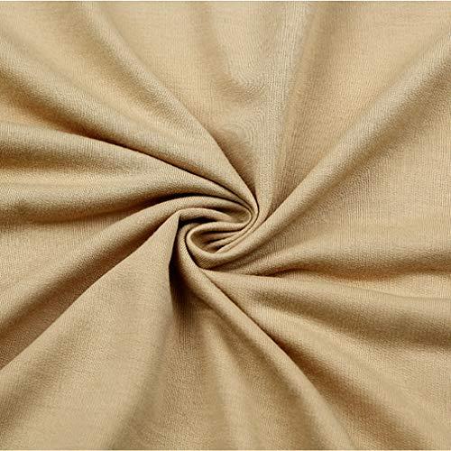Donna Felpa Lunga S Cotone con A Manica Manica da XL Cachi Lunga Cappuccio in con juqilu Pullover Stampa Palloncino IWRdqI