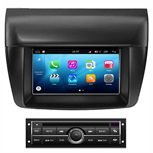 RoverOne Android 8.0 Octa Core In Dash Car DVD GPS Navigation System for Mitsubishi L200 Triton Pajero Sport 2010 2011 2012 2013 2014 with Stereo Radio Bluetooth PhoneLink Touch Screen