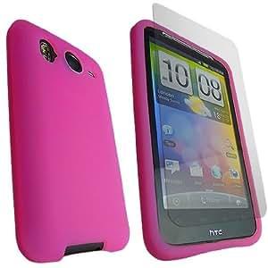 ONX3 Desire Funda de Silicona para HTC HD Hot Pink Soft