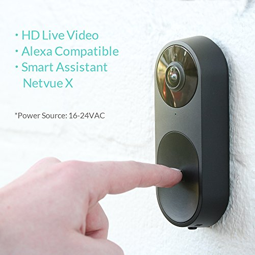 Door Viewers Netvue Belle A I  WiFi HD Video Doorbell with Facial  Recognition, Voice Interaction, Night Vision, Motion Detection, Push  Notification