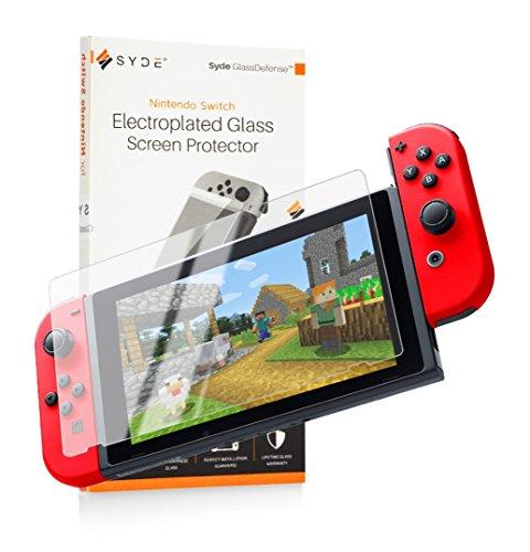 [Upgraded] CUVVR MICROFUSED [Anti-Glare] Nintendo Switch Screen Protector Glass [Dock Compatible], Tempered Glass Screen Protector for Nintendo Switch [ANTI-SCRATCH] [BUBBLE-FREE]