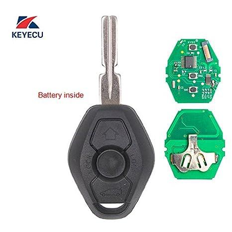 315Mhz Keyecu Replacement Remote Car Key Fob CAS2 System ID46 PCF7942 for BMW 3 5 6 7 X3 X5 Z3 HU58 Blade Uncut