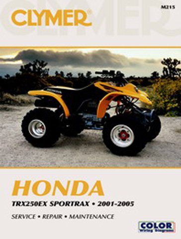amazon com 2001 2005 honda trx250ex sportrax service manual honda rh amazon com honda trx 250 service manual 1985 honda trx 250 service manual