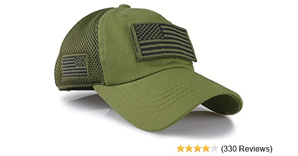 Amazon.com  Camouflage Constructed Trucker Special Tactical Operator Forces  USA Flag Patch Baseball Cap (Army Green)  Clothing 6153ff10c33
