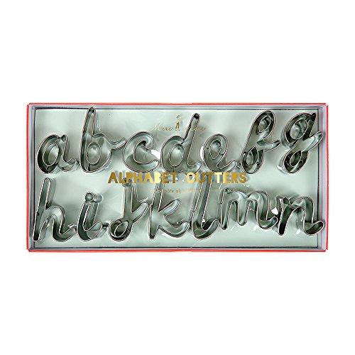 Script Alphabet Letters - Meri Meri Alphabet Cookie Cutters; 26 Letters and 1 Ampersand