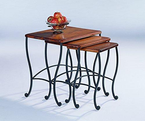 coaster-nesting-tables-black-iron-base-frame-with-rustic-oak-wood-3-piece-set