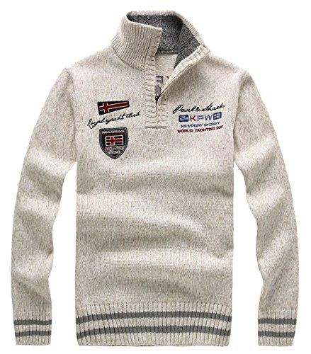DigerLa Men's Casual 1/4 Zip Long Sleeve Knit Sweater Tops