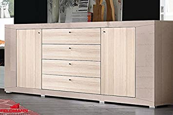 Sideboard Anrichte 540256 Grau Cappuccino Hochglanz Esche 200cm