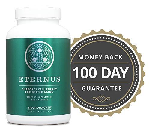 51vaTzav1QL - Eternus - Cell Energy for Better Aging | Comprehensive Cell Food Supplement | Niagen NAD+ Booster (160 Capsules)