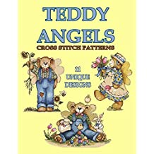 Teddy Angels Cross Stitch Pattern: 11 Unique Needlework Design (Counted Cross Stitch Pattern Book 1)