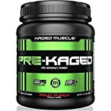 KAGED MUSCLE, PRE-KAGED Pre Workout Powder, L-Citrulline + Creatine HCl, Boost Energy, Focus, Workout Intensity, Pre-Workout, Fruit Punch, 20 Servings