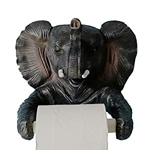 YOURNELO New Cute Wall Mounted Animal Emulational Roll Paper Holder for Toilet or Kitchen