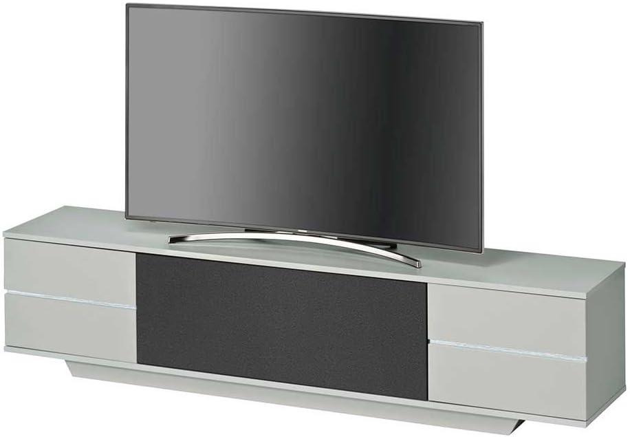 Mueble bajo para televisor en colour negro y gris 200 cm Pharao24: Amazon.es: Hogar