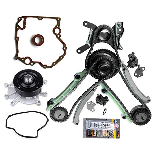 OCPTY TK5047L Timing Chain Water Pump Kit+Cover Gasket Set NGC fits for 03-08 Dodge Jeep 4.7L