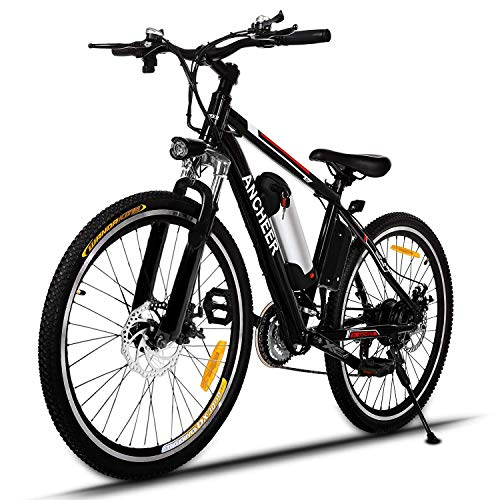 """ANCHEER 2019 Pro Electric Mountain Bike, 26"""" Electric Bicycle with Removable 8AH /12 Ah Lithium-Ion Battery for Adults, 250W Hub Motor and 21 Speed Shifter"""