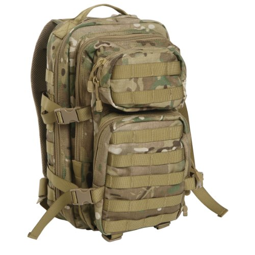 US Assault Pack Backpack, mens, 14002049, Multitarn., S