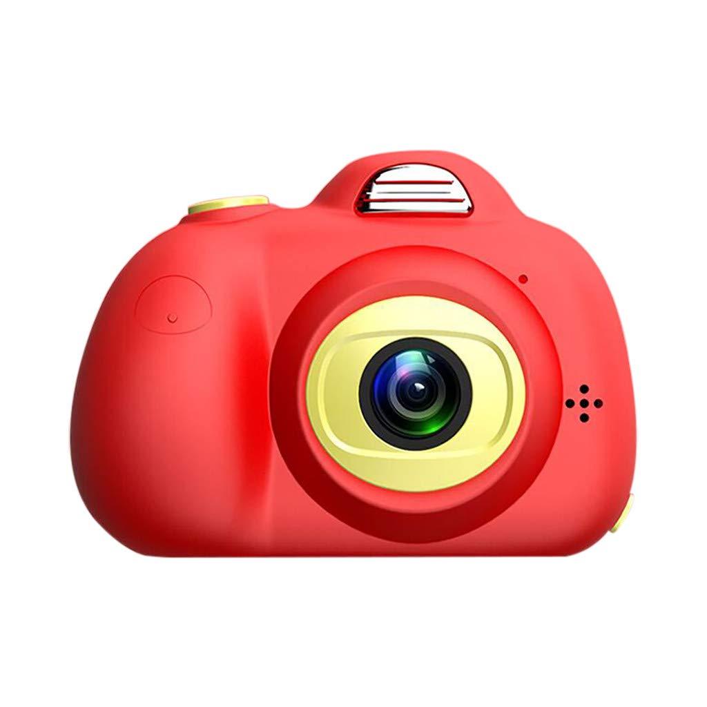 Wenini キッズ おもちゃ カメラ コンパクト カメラ 子供用 5-10歳 男の子 女の子 8MP HD ビデオ カメラ クリエイティブ ギフト M マルチカラー 6911283809416GXG B07LCQV694  レッド