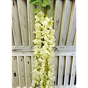 Artificial Silk Orchid Flower Garland Vine Leaf Hanging Wedding/Decor/Party set OF 2 45