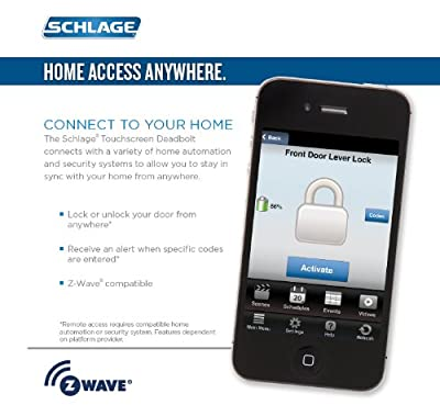 Schlage FE599NX CAM 505 ACC 505 Home Keypad Lever with Z-Wave Technology