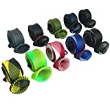 QUNCI 10 Pack Fishing Rod Sleeve Rod Sock Cover with Lanyard for Fly