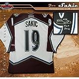 Autographed Joe Sakic Jersey - Inscribed White CCM - Autographed NHL Jerseys
