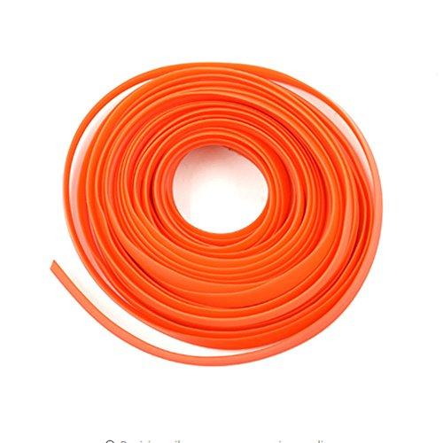 TXIN 5M/16.4 Feet Automobile Car Motor Interior Decoration Moulding Trims Strips line Sticker 3D DIY Edge Gap Trim (Orange)