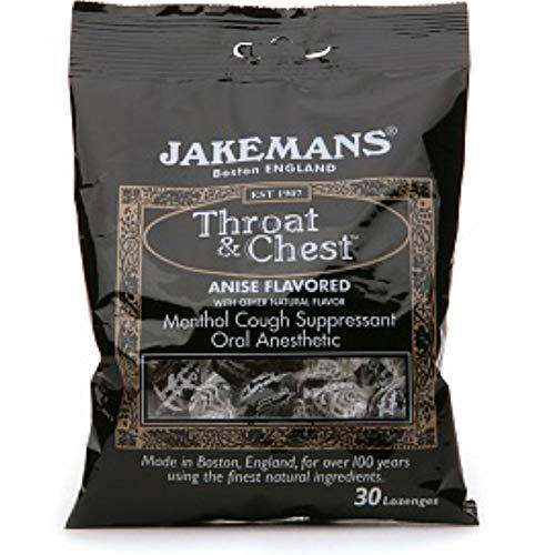 Jakemans Throat & Chest Lozenges, Anise Menthol 30 ea (Pack of 4)