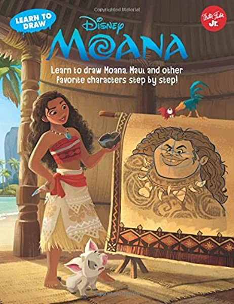 Learn To Draw Disney S Moana Learn To Draw Moana Maui And Other