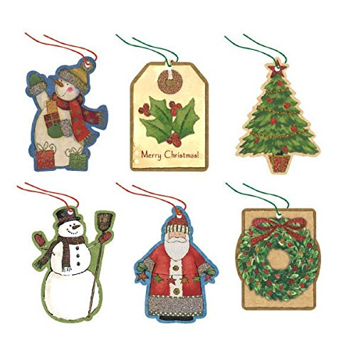 Assorted Christmas Tape-On Paper Tags, 36 Ct. | Party Accessory