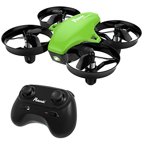 Potensic A20 Mini Drone RC Quadcopter 2.4G 6 Axis With Altitude Hold Function ,Headless Mode Remote Control Nano Quadcopter for Beginners - Green