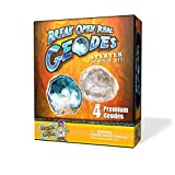 Discover with Dr. Cool 4 pack of Real Geodes with Safety Glasses - Bilingual packaging