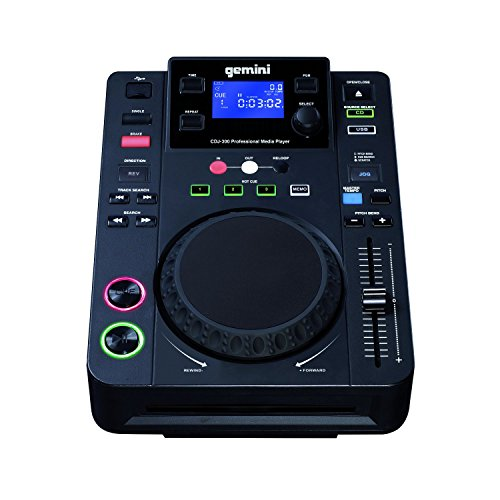 Gemini CDJ-300 CD/MP3-Player (LCD-Display, 12,7 cm (5 Zoll) Touch-Sensitive Jog Wheel, 3 Mode: Scratch Effect/Cue Search/Pitch Ben)