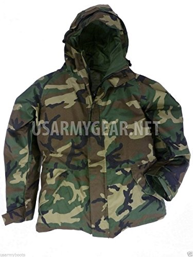 Genuine Military New Issue - New US Army Cold Wet Weather Gen 1 ECWCS Woodland Goretex Parka Jacket Coat XL (X-Large/Long)