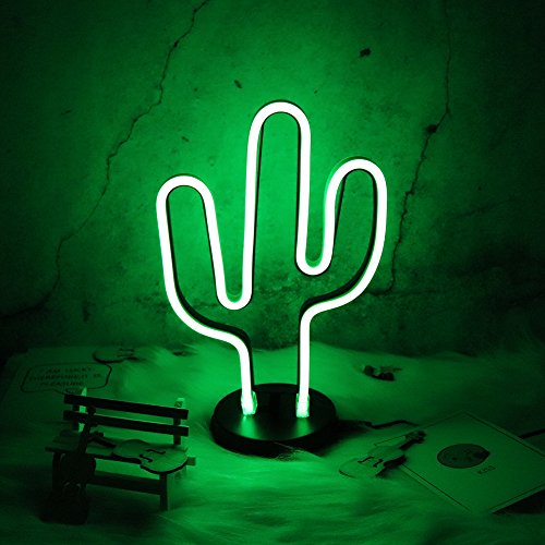 Cactus Neon Signs LED Night Light Wall Decor Light Operated By plug for Birthday party,Kids Room, Living Room, Wedding Party Decor . - Guest Room Lamp