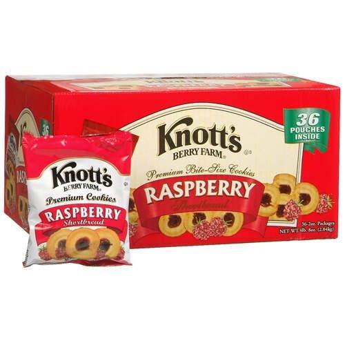 Knott's Berry Farm 59636 Premium Berry Jam Shortbread Cookies, 2 oz Pack, 36/Carton