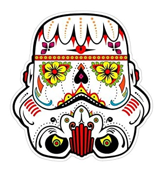 aca9b707 Star Wars Stormtrooper Sugar skull Sticker for Skateboards, Snowboards,  Scooters, BMX, Mountain