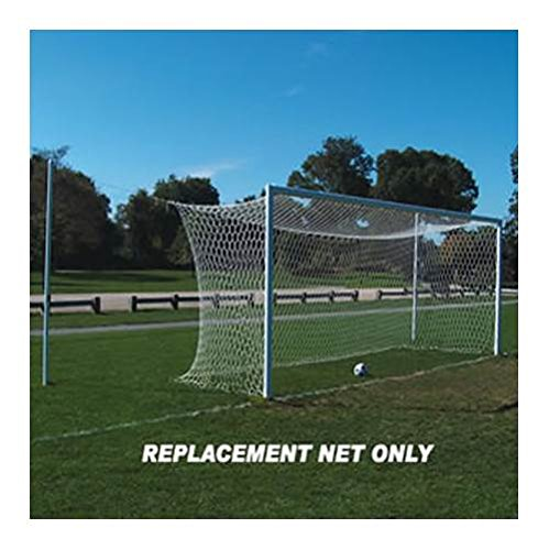 Official Soccer Replacement Net Hex in White - Set of 2 by Jaypro Sports