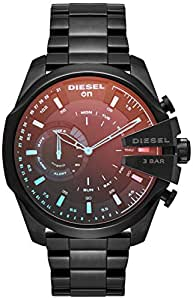 Diesel Men's DZT1011 Diesel Mega Chief Hybrid Smartwatch, Black, X-Large