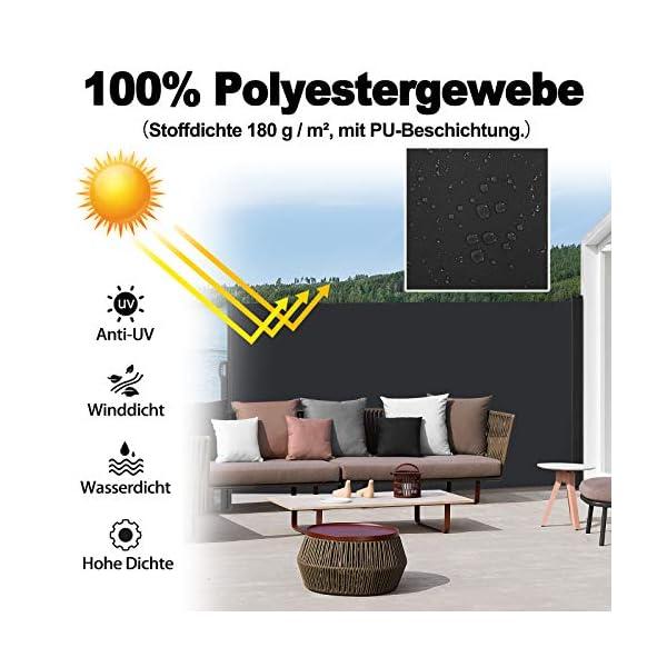 51vaYdWp%2BAL HENGMEI 180x300cm Seitenmarkise Sonnenschutz Sichtschutz Windschutz Verschiedene Größen für Terrasse Camping Garden (180…