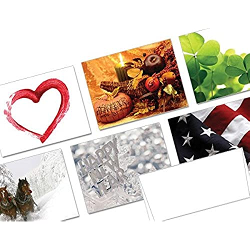 Holidays Throughout the Year - 36 Note Cards - 36 Designs - Blank Cards - White Envelopes Included Sales