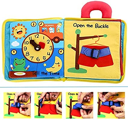 Quiet book for Toddler and Infant Montessori book Baby play book and Soft sensory book. Activity training book for Baby quiet time