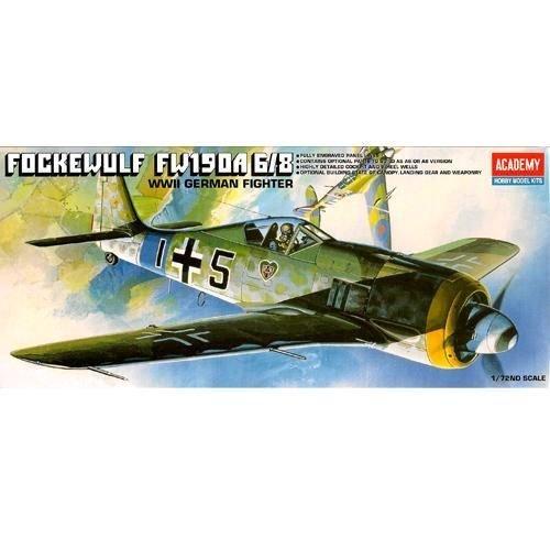 ACADEMY Plastic Model Kit 1/72 SCALE FW190-A8 FOCKEWULF WWII GERMAN (#12480)