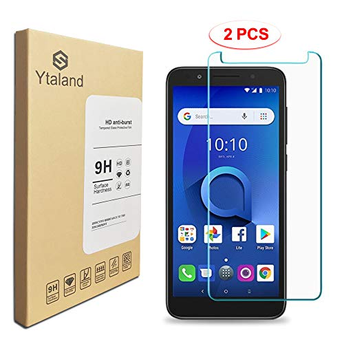 [2 Pack] Ytaland Screen Protector for Alcatel TCL LX A502DL /Alcatel 1X Evolve 5059R, [ Anti-Fingerprints ] [0.3mm, 2.5D] [Bubble-Free] Tempered Glass Screen Protector for Alcatel TCL LX A502DL